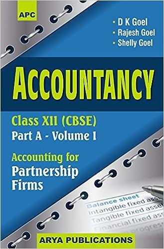 Accountancy Class - 12 CBSE Book