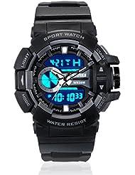 Skmei Sports Stop Watch Analog - Digital Black Dial Men's Watch - AD1117