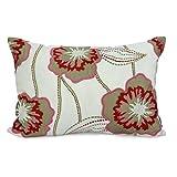JJ Valaya Fabric Applique Velvet Cushion Cover - Ivory Red(1113664)