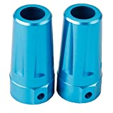SkyQ 2pcs Blue Aluminum Rear Cup Axle Lock-Outs for GPM Axial Yeti Rock Racer AX90026