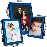 Elegant Arts & Frames Set Of 3 Silver Metal Photo Frames 5 X 7 , 8 X 6 , 10 X 8 - B01IKORAAU