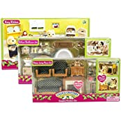 Maven Gifts: Calico Critters Deluxe Bathroom Set, Kozy Kitchen Set, And Deluxe Living Room Set Mix And Match For...