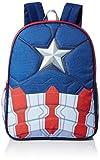 Marvel Little Boys Captain America 16 Inch Backpack, Blue, One Size