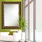 Elegant Arts & Frames Black And Gold Wall Decorative Wooden Mirror 24 Inch X 36 Inch