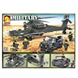 Oxford Lego Style Block Toy Military Series OM33010 Helicopter Truck