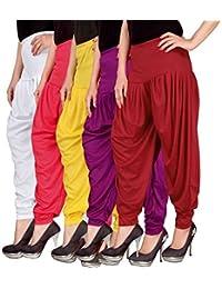 Navyataa Women's Lycra Dhoti Pants For Women Patiyala Dhoti Lycra Salwar Pant Free Size (Pack Of 5)(White,Pink... - B073YH5XMZ