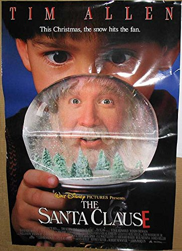 """Santa Clause - Authentic Original 27"""" x 40"""" Movie Poster -shop for Blu-ray, DVD, and Movie-themed products"""