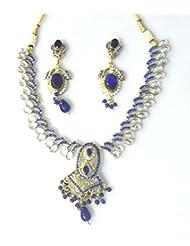 RCJ Gold Brass Necklace Set For Women - B00XN84A0C