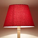 Craftter BLACK SMALL BOOTI Design RED Colour FABRIC FLOOR Lamp Shade (CWFLS-20)