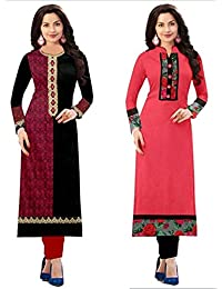 Amazon Prime Day Sale Offer On Cotton Kurti Combo Pack For Women New Collection Cotton Material Semi_stiched Printed...