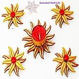 Ghasitaram Gifts Diwali Gifts - Floating T-Lite Set With 200 Gms Kaju Katli