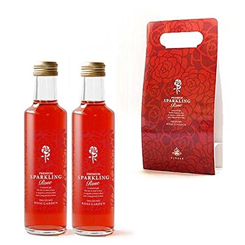 奥出雲「さ姫」 エクストラ 魅惑の薔薇のソーダ スパークリング・ローズ 2本ギフト ボトルショッパー×2個 [計800ml]