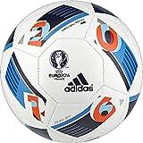 Adidas Performance Euro 16 Mini Soccer Ball, White/Bright Blue/Night Indigo, 1, 1/White/Bright Blue/Night Indigo