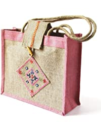 Grehom Handbag - Matrix Pink; Made Of Eco-friendly Jute