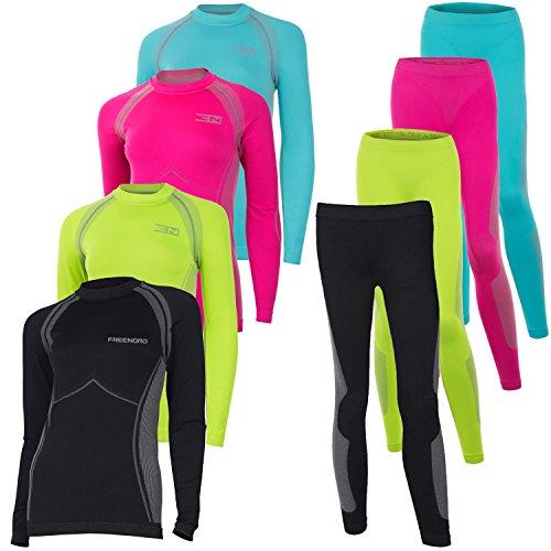 ENERGYTECH Damen Set Energytech Funktionsunterwäsche Thermoaktiv Atmungsaktiv Skiunterwäsche__ Ski__Snowboard___Langlauf