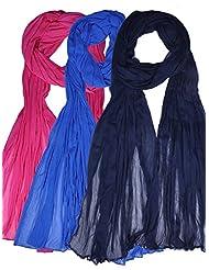 Famacart Women's Ethnicwear Combo Pack Of 3 Chiffon Dupattas