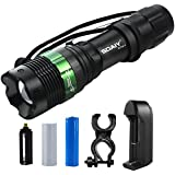 Led Flashlight 240 Lumens Soaiy Water-resistant Adjustable Focus Zoom 3 Mode,Torch Light For Camping Hiking Cycling...