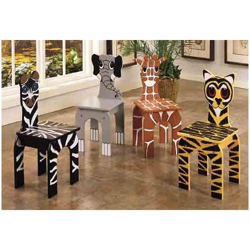 Zebra Tiger Giraffe Print Dining Chairs Chair Pads