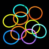 ZagGit 300 Pack Deluxe 8 Inch Glow Stick Bracelets With Extra Long Lighting Duration