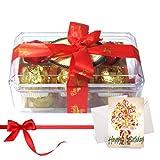 Surprise With Yummy Chocolates With Birthday Card - Chocholik Luxury Chocolates