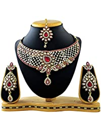 REEVA BRIDAL SET RANI AUSTRIAN DIAMOND WITH MEENAKARI AND KUNDAN