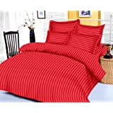 Trance King Double Bedsheet Cotton Satin 200 TC - Red - Valentine Special