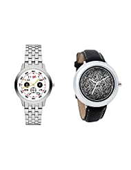 Gledati Men's White Dial And Foster's Women's Black Dial Analog Watch Combo_ADCOMB0001816