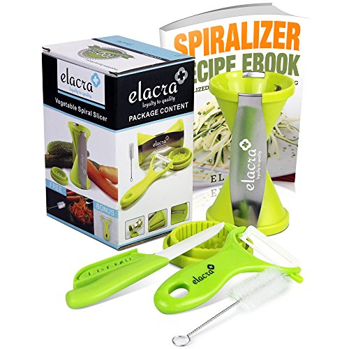 Spiralizer with Peeler and Knife and Cookbook