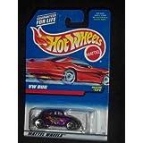 #171 VW Bug Dark Purple 3-spoke Wheels Red Card Collectible Collector Car Mattel Hot Wheels