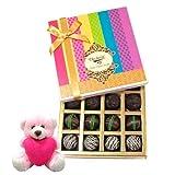 Valentine Chocholik Premium Gifts - Ultimate Chocholik Truffle Collection With Teddy