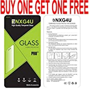 TEMPERED GLASS FOR PANASONIC T44 (BUBBLE FREE) BUY ONE GET ONE FREE