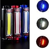 Generic Black : 100 Lumen Rechargeable LED Aluminium Bike Rear Tail Light Safety Cycling Warning Light Flashing...