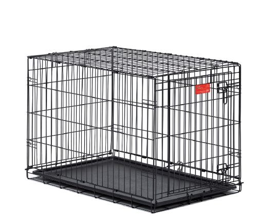 MidWest Life Stages Double-Door Folding Metal Dog Crate, 42 Inches by 28 Inches by 31 Inches