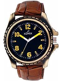 Xemex Black Round Dial Analog Watch For Men