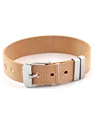 The Jewelbox Stainless Steel Copper Tone Watch Strap Style Bracelet For Men