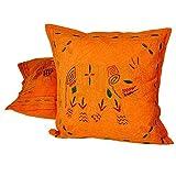 Aari Zari Work Embroidery 2 Pc. Cushion Covers Set 835