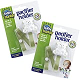 Baby Buddy 2 Piece Pacifier Holder Clip For Babies, Sage, 4 Months And Up
