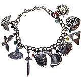 The Legend Of Zelda Silvertone (10 Themed Charms) Charm Bracelet