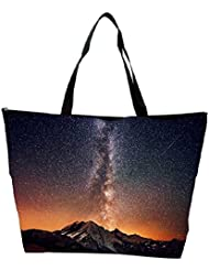 Snoogg Milky Way Above The Mountains Designer Waterproof Bag Made Of High Strength Nylon