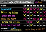 Chart and Soul Chalkboard Chore Chart Decal with Rewards - 16