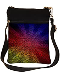 Snoogg Abstract Sun Rays Cross Body Tote Bag / Shoulder Sling Carry Bag