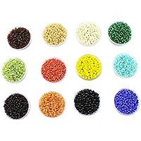 Eshoppee Seed Beads For Jewelery Making Set Of 12 Colours , 20Gm X 12