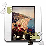 BLN Vintage Travel Posters - Vintage Amalfi Italia Italy Travel Poster - 10x10 Inch Puzzle (pzl_126001_2)