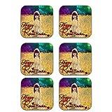 MeSleep Happy Raksha Bandhan Wooden Coaster-Set Of 6