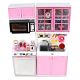 "Modern Kitchen 16 Battery Operated Toy Kitchen Playset, Perfect For Use With 11-12"" Tall Dolls"