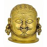 """Redbag God Shiva Brass Head ( 5.50""""H X 5.75""""W X 4.75""""D )"""