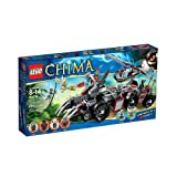 Toy / Play LEGO Chima 70009 Worriz Combat Lair Features Cool Articulated Wolf Face Teeth Ears & Claws Game / Kid...