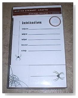 Martha Stewart Stamped Halloween Invitations