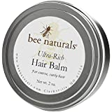 Ultra Rich Hair Balm - For Coarse, Curly And Dry Hair - Conditions And Shines With No Silicone Or Synthetic Ingredients...