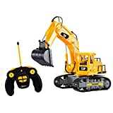 Top Race 7 Channel Full Functional Rc Excavator, Battery Powered Electric Rc Remote Control Constr